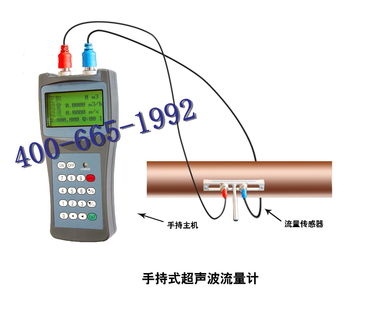 便携式小支架超声波流量计